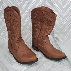 Girls' Meadow Western Boot Cat & Jack™ Brown 6